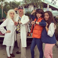 Doc Brown, Marty McFly, and Jennifer Parker
