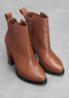&other stories brown leather boots