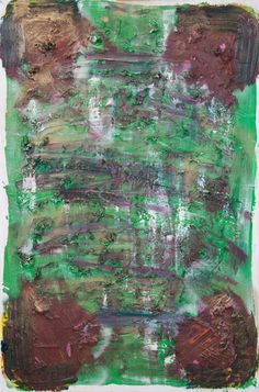Stella Corkery: Untitled 105; oil and spray paint on readymade canvas and stretcher, 610mm x 910mm