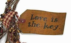 """Primitive Valentine Crafts   ... is the key"""" Hearts and Keys Garland - Valentine's Day - Holiday Crafts"""
