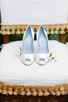 White Satin: http://www.stylemepretty.com/2015/07/12/30-christian-louboutin-shoes-youll-love-almost-as-much-as-your-husband/