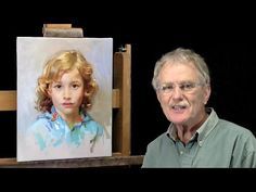 Learn how to paint a portrait in oil from photography. Portrait of a little boy.