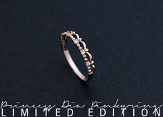 [리미티드 에디션] 프린세스 다이아몬드 10K 핑키 반지
