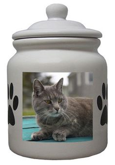 Cat Cookie Jar, Cat Cookies, Ceramic Cookie Jar, Cookie Jars, Grey Cats, Cat Lovers, Ceramics, Prints, Animals