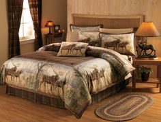 $ MOOSE Grand River Lodge Hautman EZ Bed Set: Includes comforter, bed skirt and two shams (Twin includes one sham, King includes two King shams), two toss pillows, one fitted sheet, one flat sheet and two pillowcases (Twin includes one pillowcase). Imported.