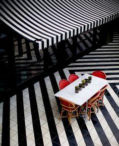 Cafe at Hotel Saint Cecilia, Austin  Photography by Allison V Smith