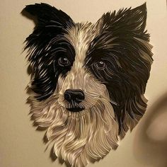 On-Edge Paper Art Border Collie - Rebekah Jenkins