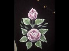 Come dipingere sulla stoffa nera. Dipingere rosa - YouTube