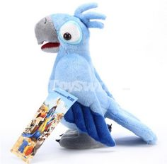 Rio Bird Male Parrot Blu Plush Doll Toy 12""