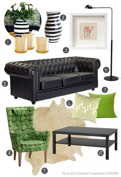 Hump Day Home Makeover - Durable Living Room #chesterfield #decor #living