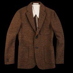 Beams+ - Nep Tweed Jacket in Brown | Unionmade Goods