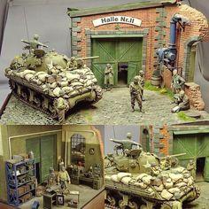 """Halle Nr.II"" diorama. Modeler Aleksandr Urusov #scalemodel #scalemodelkit #plastimodelismo #plasticmodel #plastimodelo #miniatura #miniature #maqueta #maquette #modelismo #modelism #modelisme #war #guerra #guerre #bataille #miniatur #hobby #diorama #passatempo #tiempolibre #ミニチュア #моделизм"