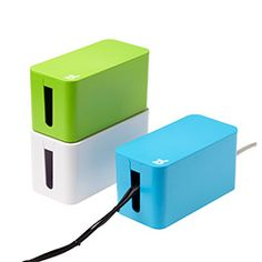 Mini CableBox™ with Power Strip by Bluelounge - $29.95  Yet another way for me to hide hideous cords! (Also comes in a larger size)