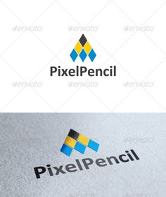Pencil Logo  #GraphicRiver         Pixel Pencil is a multipurpose logo. Can be used in different categories such a