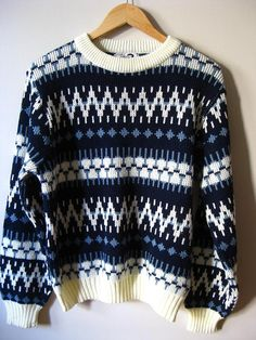 ab8e824c12 80s missoni style sweater   hipster clothing   navy by EcoCentrik Vintage  Sweaters Mens