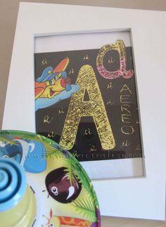 """#Abbecedario, lettera """"A"""" con tecnica graffiti con #pastelli a cera"""