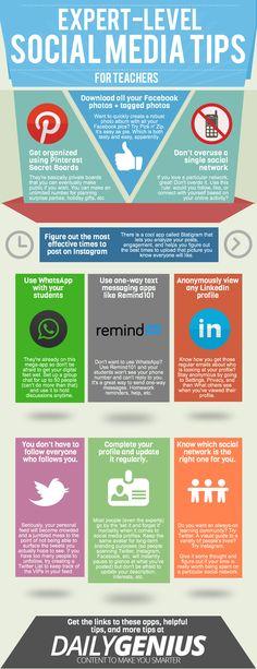#SocialMedia Tips For #Teachers #education