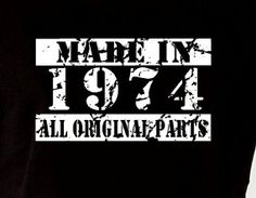 Made In 1974 Vintage 40th Birthday Gift Present by DesignDepot123, $13.90