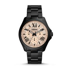 Fossil Cecile Multifunction Stainless Steel Watch - Black| FOSSIL® Watch Collections