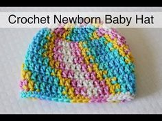30 Minute Crochet Newborn Baby Beanie - Sewrella