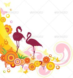 Realistic Graphic DOWNLOAD (.ai, .psd) :: http://sourcecodes.pro/pinterest-itmid-1003024207i.html ... Background with Flamingo ...  animal, background, banner, bird, bright, butterfly, decorative, design, flamingo, floral, flower, orange, summer, vector  ... Realistic Photo Graphic Print Obejct Business Web Elements Illustration Design Templates ... DOWNLOAD :: http://sourcecodes.pro/pinterest-itmid-1003024207i.html