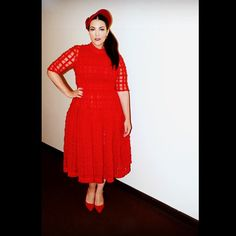 Tour 2014 Dress: Simone Rocha Beret: vintage Shoes: L.K. Bennett Photo by Anoek van Nunen