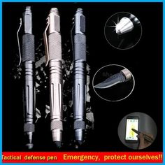 39570cc610aa  Visit to Buy  Laix pen Outdoor tool Self Defense Tactical Pen Multi-Tool  Tungsten Steel Glass With Knife touch pen defence pen EDC travel kits
