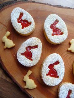 Osterkekse Linzer Art - New ideas Easter Cupcakes, Easter Cookies, Easter Treats, Mint Cookies, Chocolate Chip Cookies, Sugar Cookies, Easy Cookie Recipes, Easter Recipes, Homemade Vanilla Cake