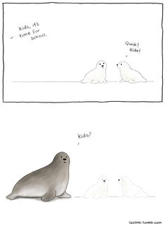 Tagged with Funny; Liz Climo Part 5 Funny Animal Comics, Cute Animal Memes, Animal Jokes, Cute Memes, Cute Comics, Funny Animal Pictures, Funny Comics, Funny Cute, Funny Images