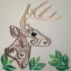 Quilled Deer by PractiQuills on Etsy