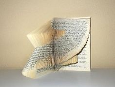 Etsy Transaction -        Book Statement - book sculpture - folded book- OoaK