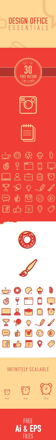 Set of 30 Free Vector Line Icons on Behance
