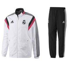 Real Madrid Presentation Tracksuit 2014 - 2015 (White) http://www.soccerbox.com/84004