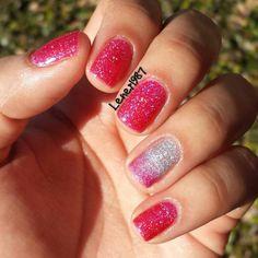 Sparkling Nails Art Manicure using LA Girl 3D Effects