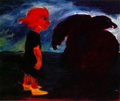 Child and Large Bird, 1912, Emil Nolde