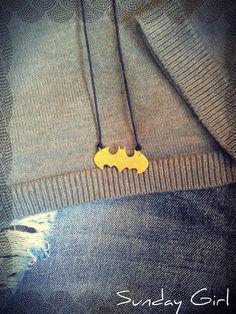 batman brass necklace