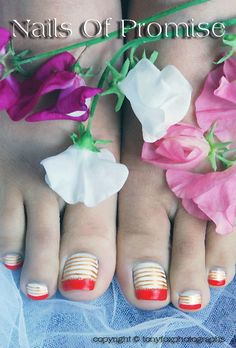 Strawberries & Cream. Nails Of Promise.  http://nailsofpromise.com  https://plus.google.com/u/0/114022035317844905656/posts