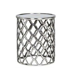 The Lattice Side Table from Urban Barn is a unique home Coffee + Side + Console Tables item. Urban Barn carries a variety of Coffee + Side + Console Tables and other Furniture furnishings. Unique Home Decor, Home Decor Items, Aluminum Table, Condo Living Room, Living Area, Dining Room, Contemporary Furniture Stores, Modern Placemats, Living Room