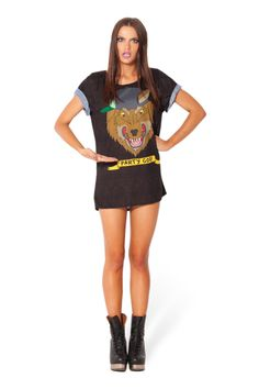 http://blackmilkclothing.com/collections/adventure-time/products/party-god-bft Adventure Time Shirt