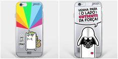 Cases para celulares nerds, fofas e com o toque de ilustradores!