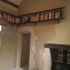 Rustic ladder bookcase to put all cookbooks on