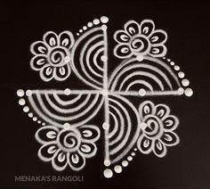 Easy Special Rangoli For Diwali Rangoli Side Designs, Rangoli Designs Simple Diwali, Simple Rangoli Border Designs, Rangoli Simple, Rangoli Designs Latest, Free Hand Rangoli Design, Small Rangoli Design, Rangoli Designs With Dots, Beautiful Rangoli Designs