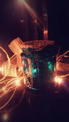 #Jar #Glitters #Bows #GlassPaints #Lights #Decorative