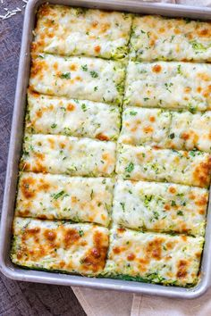 Craving cheesy bread, but you're on a low-carb or keto diet? My recipe for Cheesy Zucchini Bread hits the spot without compromising good nutrition. Zucchini Zoodles, Zucchini Cheese, Zucchini Ravioli, Healthy Zucchini, Zucchini Lasagna, Zucchini Fritters, Cheesy Zucchini Bake, Zucchini Pizzas, Zucchini Boats