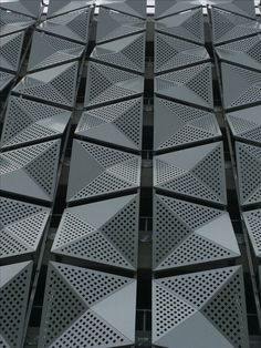💠 Revestimientos - Vamp Concept: Inspiración, Ideas y Colores. Cladding Design, House Cladding, Facade Design, Exterior Design, Facade House, Parametric Architecture, Concept Architecture, Facade Architecture, Parametric Design