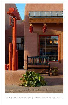 Adobe style architecture, Old Town, Albuquerque, New Mexico