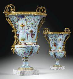 Gilt-bronze- Sèvres Vases Medici, c.1790.