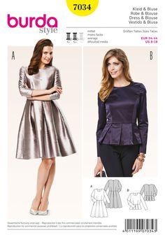 Kleid, Bluse Die X-Silhouette ist zurück und lenkt den Blick auf Taille bzw…