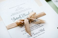 Antiquaria Letterpress Wedding Invitation Collection