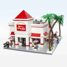 This is the exterior of a fully detailed Lego recreation of In-N-Out created by my friend Jon Furman. You'll want to see the rest of it!
